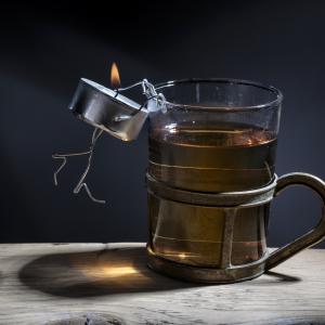 Teelicht.